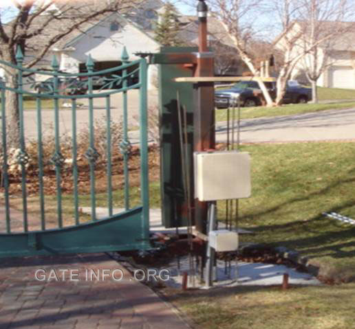 Photo Slide Show Of Driveway Gate Installation